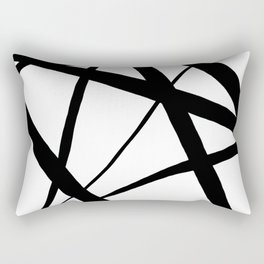A Harmony of Lines and Shapes Rectangular Pillow