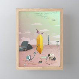 Land of Crystals Framed Mini Art Print