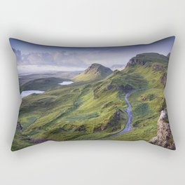 The Road to the Quiraing Rectangular Pillow