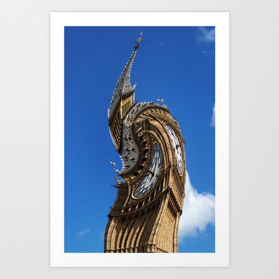 Big Ben Abstract Art Print