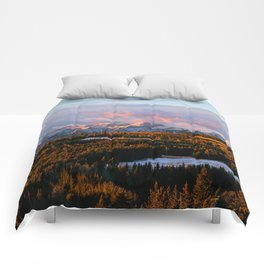 Sunrise in the Rockies Comforters