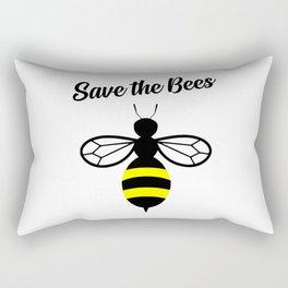 Save the bees logo Rectangular Pillow