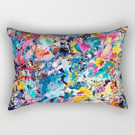 10 Year Table Canvas Detail Rectangular Pillow