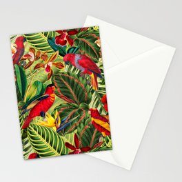 Vintage & Shabby Chic - Midnight Tropical Flower Garden III Stationery Cards