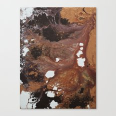Copper abstract liquidity. Canvas Print