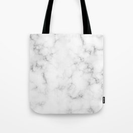 The Perfect Classic White with Grey Veins Marble Tote Bag
