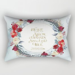 The heart is an arrow... Six of Crows Quote Rectangular Pillow