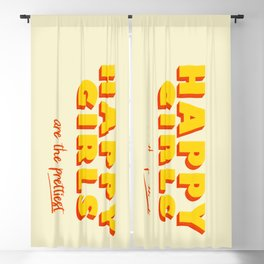 Happy Girls - typography Blackout Curtain