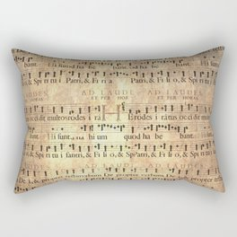 Antique Music Sheets on Rustic Paper Rectangular Pillow