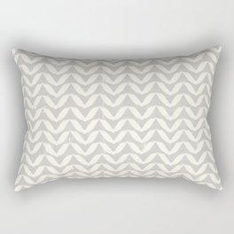 Herringbone-Gray Rectangular Pillow