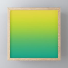 Meadowlark, Lime Punch, Arcadia Blurred Minimal Gradient | Pantone colors of the year 2018 Framed Mini Art Print