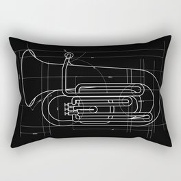 Geometric Tuba Rectangular Pillow