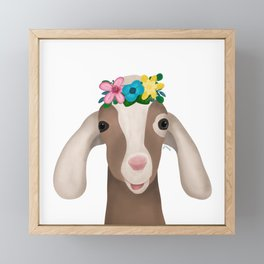 Sally the goat Framed Mini Art Print
