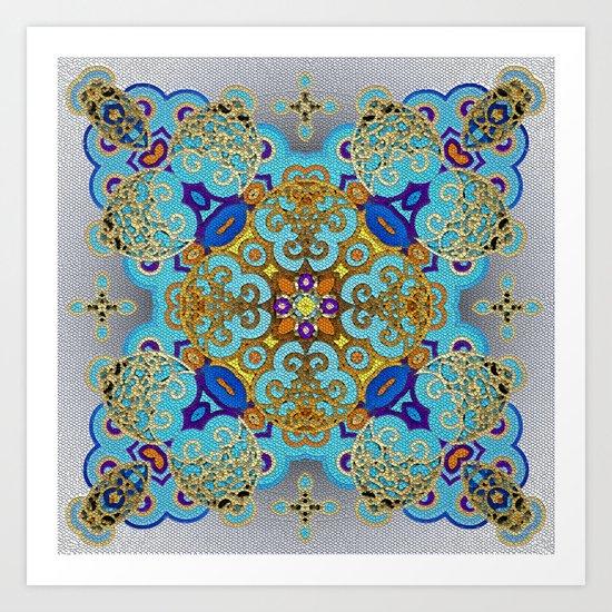 Mix&Match Byzantine Mosaic 03 Art Print