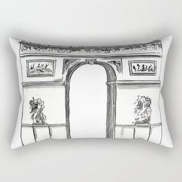 Arc De Triomphe Sketch no. 2 Rectangular Pillow