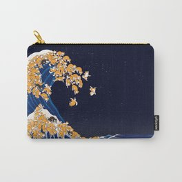 Shiba Inu The Great Wave in Night Carry-All Pouch