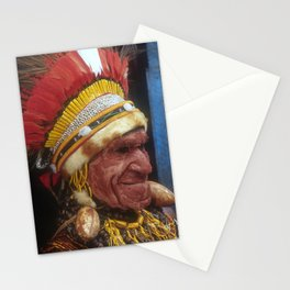 Papua New Guinea Elder Chief Breathtaking Fine Art Photo Stationery Cards