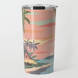 Aloha Hawaii Travel Poster Travel Mug