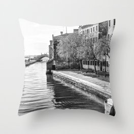 A view of Venice Throw Pillow