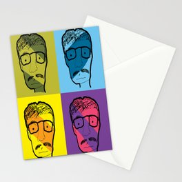 mustach man Stationery Cards