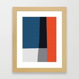 Blue and red composition XVIII Framed Art Print