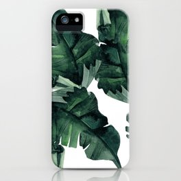 Banana Leaves Pattern Green iPhone Case