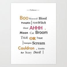 Halloween Colour Art Print