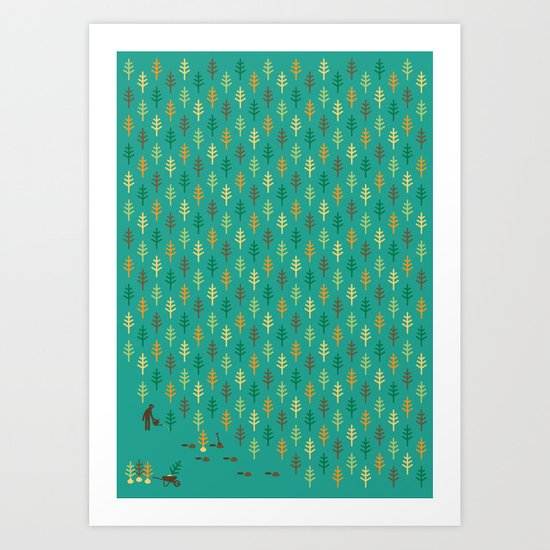 Reforestation Art Print
