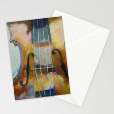 Violin Painting Stationery Cards