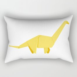 Origami Diplodocus Rectangular Pillow