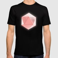 spatial geometry Mens Fitted Tee Black LARGE