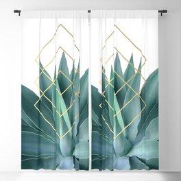 Agave geometrics Blackout Curtain
