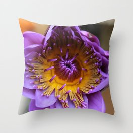 Spring Water Lily Throw Pillow