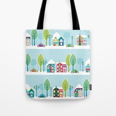 Ski house Tote Bag