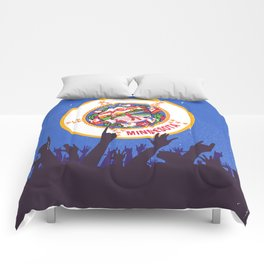 Minnesota State Flag with Audience Comforters