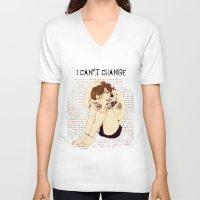 "lyrics V-neck T-shirts featuring "" Lyrics "" by Karu Kara"