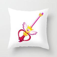 Moon Wand Throw Pillow