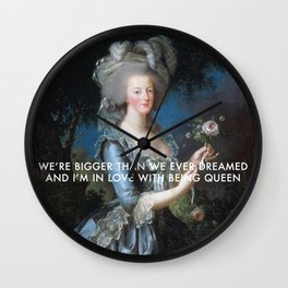In Love with Being Queen of France Wall Clock