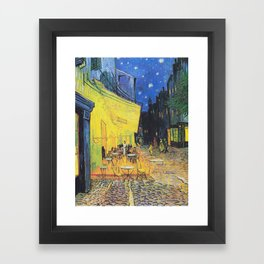 Café Terrace at Night by Vincent van Gogh Framed Art Print
