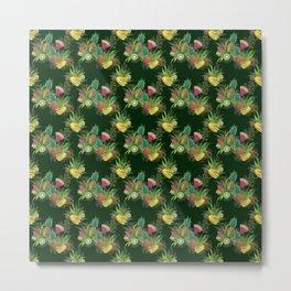 Fruits Basket 1 -  Forest Green Metal Print