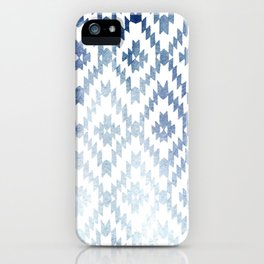 Indigo Ikat Print 3 iPhone Case