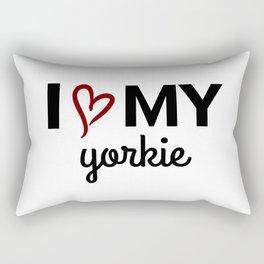 I LOVE MY YORKIE Rectangular Pillow