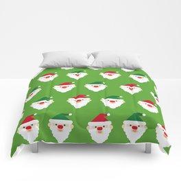 Christmas Santa Clause Wallpaper Christmas Pattern Comforters