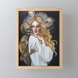 Death and the Maiden, Part 1: Flirting Framed Mini Art Print
