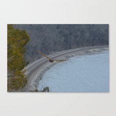 Curving away Canvas Print