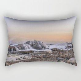 Waves on the rocks at the Backshore Rectangular Pillow