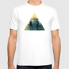 Shape of the ocean Mens Fitted Tee MEDIUM White