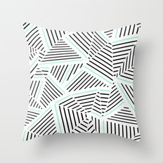 Ab Linear Zoom With Mint Throw Pillow
