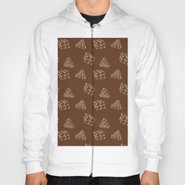 the pyramids and cubes on a brown background . artwork Hoody