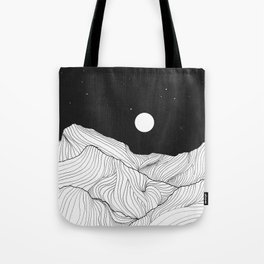 Lines in the mountains II Tote Bag